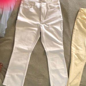 Tencel frayed jeans